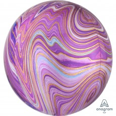Purple Marblez  Shaped Balloon