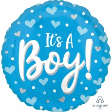 Baby Shower - General Standard HX Hearts & Dots Foil Balloon