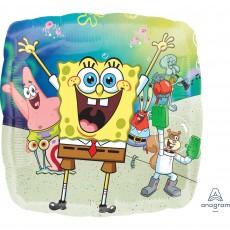 Square SpongeBob Standard HX Squarepants Shaped Balloon 45cm