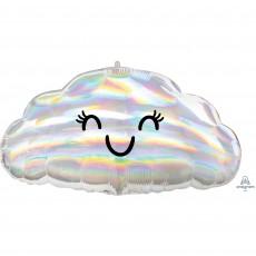 Iridescent Standard  Cloud Shaped Balloon