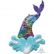 Mermaid Wishes SuperShape Mermaid Sequin Tail Shaped Balloon