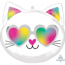 Misc Occasion Standard XL Cool Kitty Face Shaped Balloon