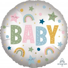 Baby Shower - General Standard HX Natural Satin Infused BABY Foil Balloon 45cm