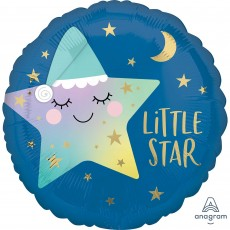 Twinkle Little Star Standard HX Sleepy Foil Balloon