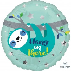 Sloth Party Decorations - Foil Balloon Standard HX Hang in There!