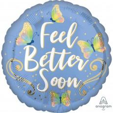 Get Well Standard HX Butterflies Foil Balloon
