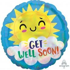 Get Well Standard Happy Sun Foil Balloon
