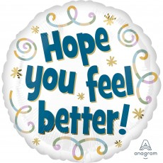 Get Well Party Decorations - Foil Balloon Hope You Feel Better!