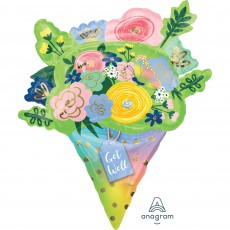 Get Well Party Decorations - Shaped Balloon SuperShape Flower Bouquet