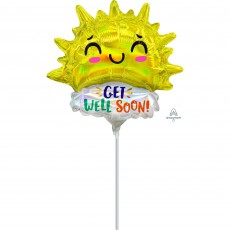 Get Well Mini Happy Sun Shaped Balloon