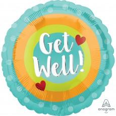Get Well Party Decorations - Foil Balloon Standard HX Dots Get Well!