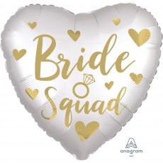 Hens Night Party Decorations - Foil Balloon Std XL Satin Bride Squad