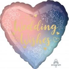 Heart Standard HX Twilight Lace Wedding Wishes Shaped Balloon 45cm
