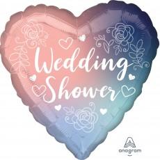 Bridal Shower Standard HX Twilight Lace Foil Balloon 45cm
