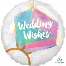 Standard HX Wedding Ring Wedding Wishes Foil Balloon 45cm