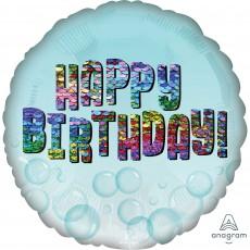 Happy Birthday Standard HX Sequins Foil Balloon