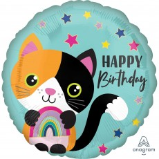 Happy Birthday Calico Cat Standard HX Foil Balloon