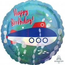 Standard Holographic Iridescent Submarine Foil Balloon 45cm