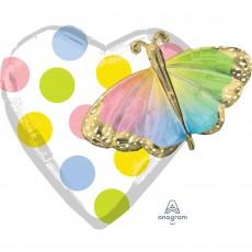 Happy Birthday Multi-Balloon Butterfly Shaped Balloon