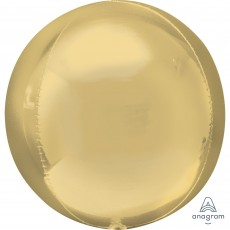Gold White  Shaped Balloon