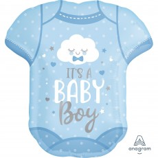 Baby Shower - General SuperShape Onesie It's a Baby Boy Shaped Balloon