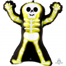 Halloween Party Decorations - Shaped Balloon Neon Skelly Skeleton