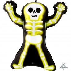 Halloween SuperShape Neon Skelly Skeleton Shaped Balloon