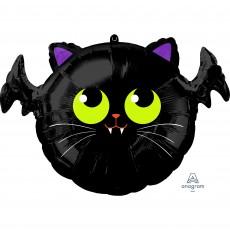 Halloween Standard Batcat Shaped Balloon