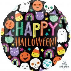 Halloween Standard HX Happy Faces Foil Balloon