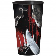 Halloween Freddy Versus Jason Plastic Cup