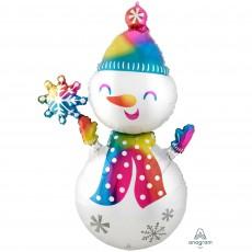 Christmas Party Decorations - Foil Balloon Giant Multi-Balloon Snowman