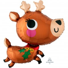 Christmas SuperShape XL Adorable Reindeer Shaped Balloon