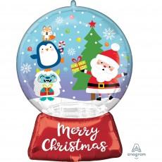 Christmas SuperShape Snow Globe Shaped Balloon