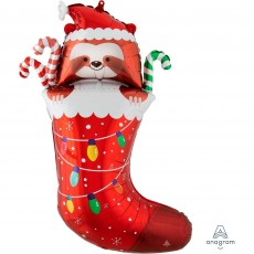 Christmas Party Decorations - Shaped Balloon SuperShape Sloth Stocking
