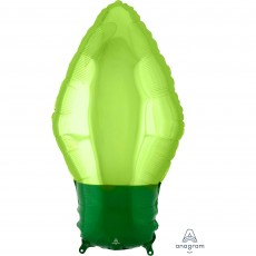 Christmas Party Decorations - Shaped Balloon Green Christmas Light Bulb