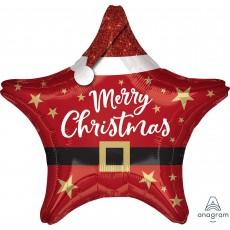 Christmas Standard XL Santa Star Foil Balloon