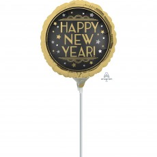 New Year Party Decorations - Foil Balloon Vintage Satin Happy New Year