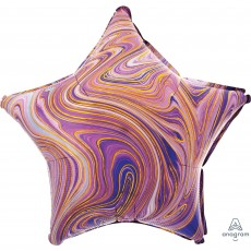 Purple Marblez Standard XL Shaped Balloon