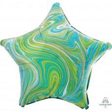 Green Standard XL Marblez Shaped Balloon
