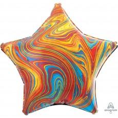 Star Multi Coloured Standard XL Marblez Shaped Balloon