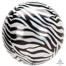 Jungle Animals Party Decorations - Shaped Balloon Zebra Print