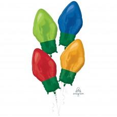 Christmas Standard  Light Bulbs Shaped Balloon