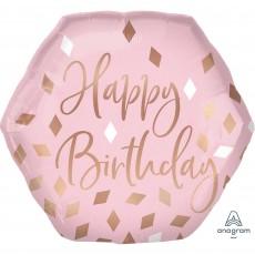 Blush Birthday Party Decorations - Shaped Balloon SuperShape XL