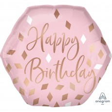 Blush Birthday SuperShape XL Shaped Balloon