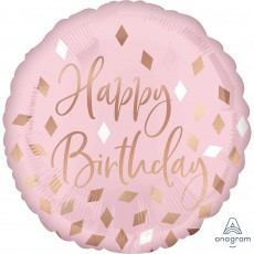 Blush Birthday Standard HX Blush Foil Balloon