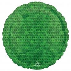 Green Forest Glitter Forest  Sequins Standard HX Foil Balloon