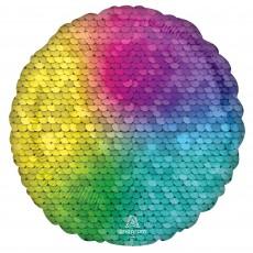 Rainbow Standard HX Jewel Sequins Foil Balloon
