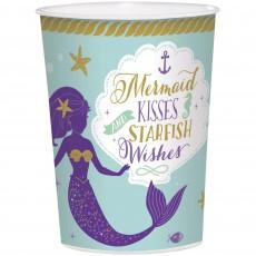 Mermaid Wishes Favour Mermaid Kisses Starfish Wishes Plastic Cup 473ml