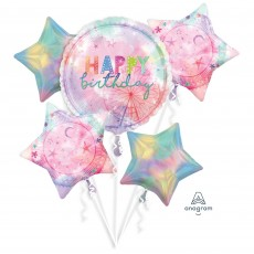 Girl-Chella Party Decorations - Foil Balloons Bouquet
