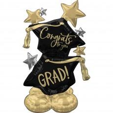 Graduation CI: AirLoonz Grad Hats Foil Balloon